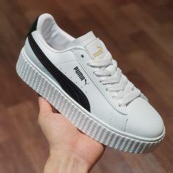 Giay Puma Creeper Rihanna Fenty Leather White puma trang vach den rep 11 gia re ha noi