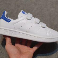 Adidas Stan Smith CF quai dinh gia re mau xanh duong