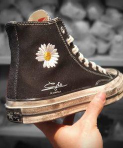 Giay PEACEMINUSONE x Converse Chuck 70 hoa tiet hoa cuc ban