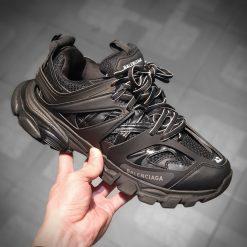 Balenciaga Black and Grey Track Sneakers 191342M23700706