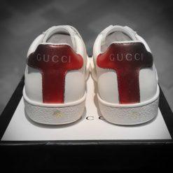 giay Gucci Ace Leather full phu kien mau do