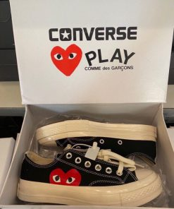 Giay Converse Chuck 70 x CDG Play Heart Trai tim mau den co thap