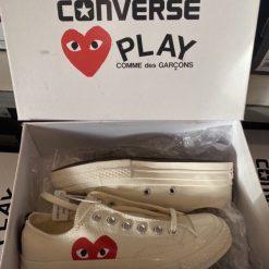 Giay Converse Chuck 70 x CDG Play Heart Trai tim trang co thap