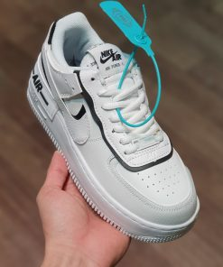 Nike Air Force 1 shadow black white trang den rep 11 gia re