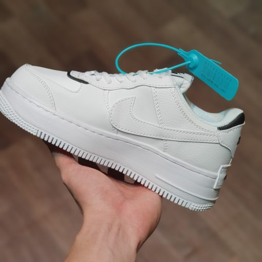 Nike Air Force 1 shadow black white trang den rep 11 gia re