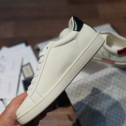 Giay Gucci Ace Leather chu ngang