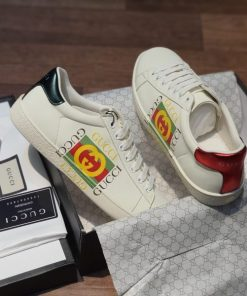 Giay Gucci Ace Leather logo ivory logo to rep 11 gia re ha noi