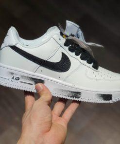 """Giay Nike Air Force 1 ban hoa cuc troc son Trang -PEACEMINUSONE x AF1 """"Para-Noise 2.0"""" Rep 11"""