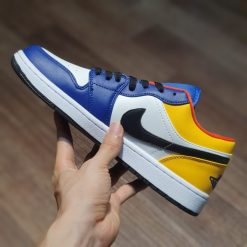 giay Air Jordan 1 Low Purple Yellow