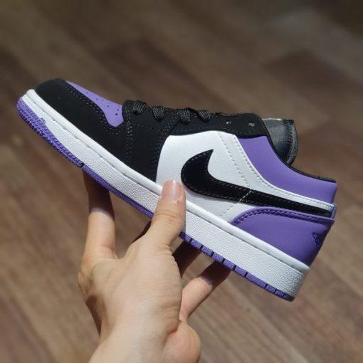giay nike air jordan 1 low court purple tim
