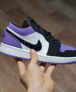 giay nike air jordan 1 low court purple tím