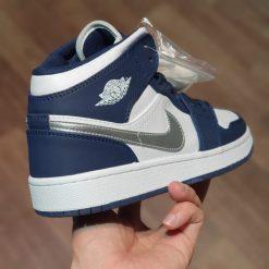 giay Nike Air Jordan 1 Retro co cao Navy