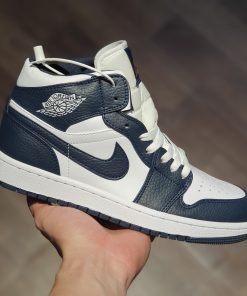 giay Air Jordan 1 Mid 'Obsidian' Little Goldman Wild Basketball Shoes Casual Sneakers