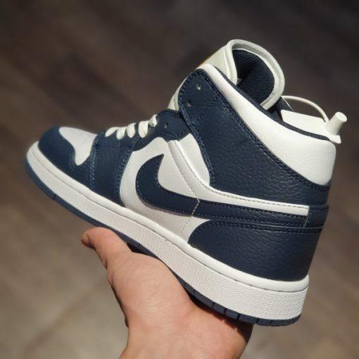 giay Air Jordan 1 Mid 'Obsidian' Little Goldman Wild Basketball Shoes Casual Sneakers