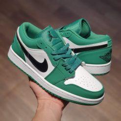 giay Nike Jordan 1 Low 'Pine Green' jd co thap xanh la rep 11