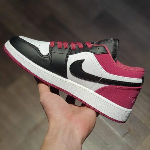 Giay Nike Air Jordan 1 Low Black Active Fuchsia binz rep 11 gia re ha noi
