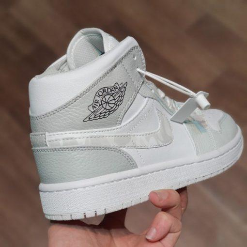 Nike Air Jordan 1 Mid Grey Camo co cao