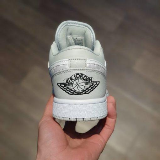 Nike Air Jordan 1 Mid Grey Camo co thap