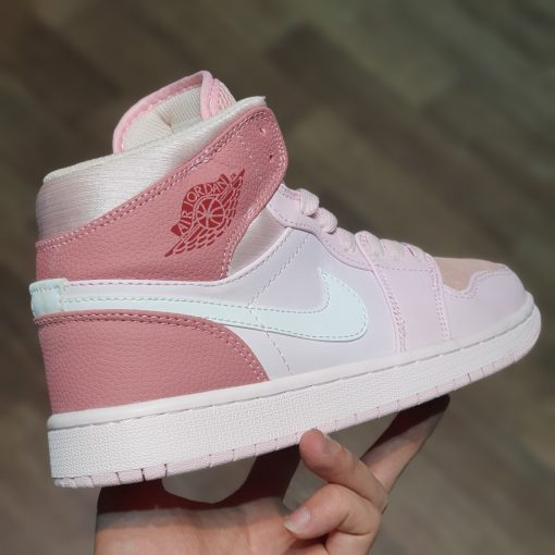 Giay Nike Air Jordan 1 Mid Digital Pink trang hong co cao rep 11