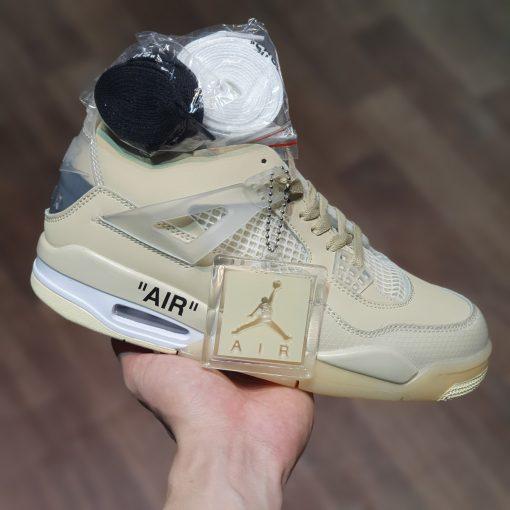 Giay Nike Air Jordan 4 Retro Off-White Sail rep 11 gia re ha noi