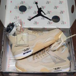 Giay Nike Air Jordan 4 Retro Off-White Sail rep 11 gia re ha noi CV9388-100
