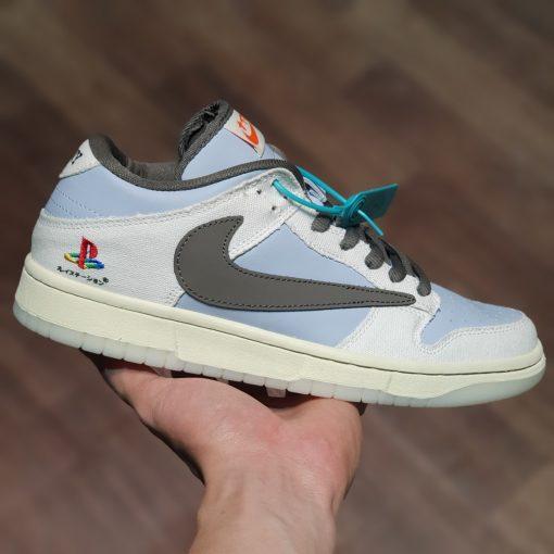Giay Nike Dunk Low Travis Scott x Playstation rep 11 gia re