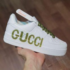 giay Nike Air Force 1 Low Premium logo Gucci chu ngang Like Auth gia re ha noi