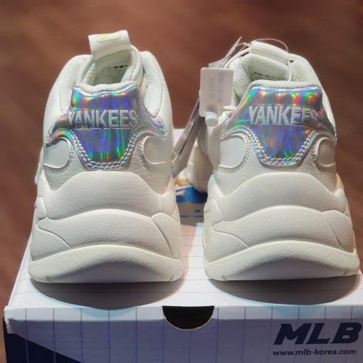 giay Sneakers nữ MLB Big Ball Chunky Shiny New York Yankees 32SHCH011-50W MLB got holo xanh rep 11 gia re ha noi