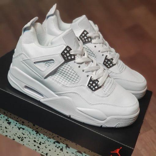 giay nike air Jordan 4 Retro Pure Money 2017 308497-100 jodan 4s full white rep 11 gia re ha noi