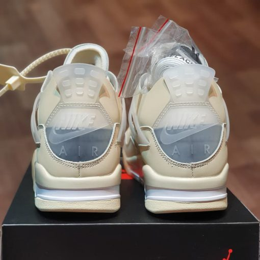 got Giay Nike Air Jordan 4 Retro Off-White Sail rep 11 gia re ha noi CV9388-100