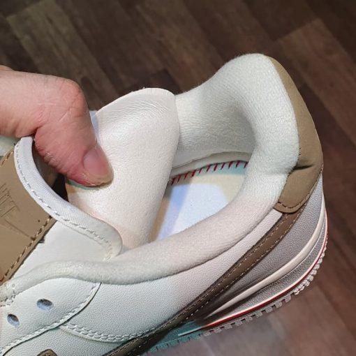 lot giay Nike Air Force 1 Low Premium White Brown '808788-996' AF1 vien nau like auth sieu cap gia re ha noi