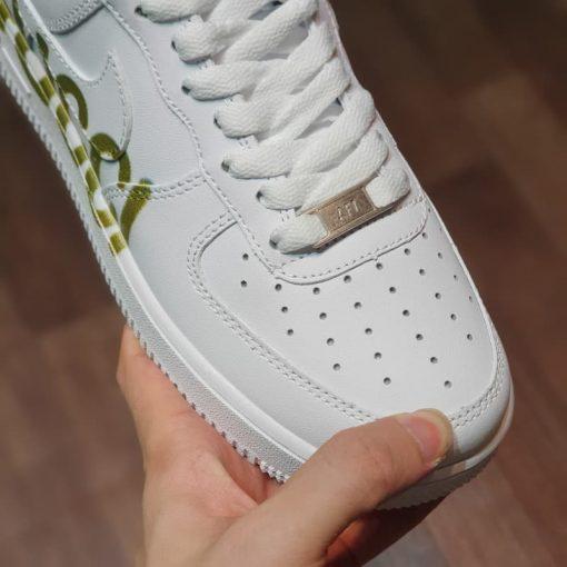 mui giay Nike Air Force 1 Low Premium logo Gucci chu ngang Like Auth gia re ha noi