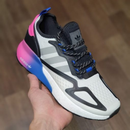 adidas men s zx 2k boost running sneakers white grey black 1a2a-250 Rep 11 trang xam den gia re ha noi