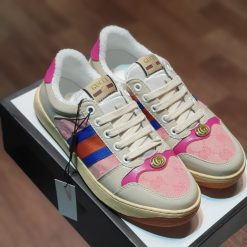 giay Gucci Screener sneaker in leather with Web bands son tung hong rep 11 gia re ha noi 570443 9SFR0 5270