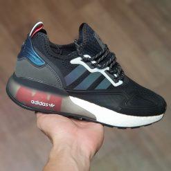 giay adidas womens originals zx 2k boost running shoes fy2014 black linen c194-250 rep 11 mau den gia re ha noi