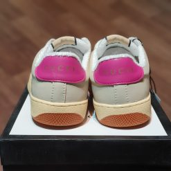 got giay Gucci Screener sneaker in leather with Web bands son tung hong rep 11 gia re ha noi 570443 9SFR0 5270