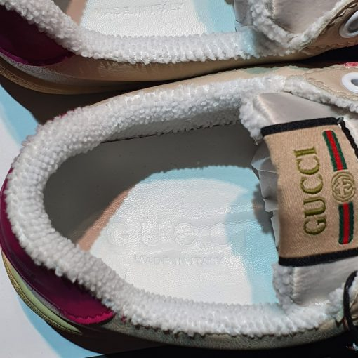 lop lot giay Gucci Screener sneaker in leather with Web bands son tung hong rep 11 gia re ha noi 570443 9SFR0 5270