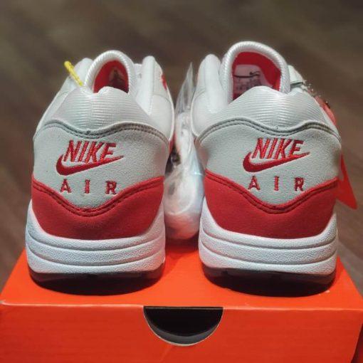 giay Nike Air Max 1 Anniversary 'White & University Red' 908375-100 am do rep 11 gia re ha noi