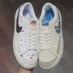 giay Nike Blazer Low 77 Paint Splatter shoes DJ1517-100 rep 11 gia re ha noi