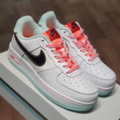 Giay Nike Air Force 1 07 LV8 GS White Atomic Pink Flash Crimson Black DD7709-100 rep 11 gia re ha noi